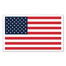 American Flag Stuff Rectangle Decal