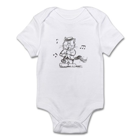 Catoons clarinet cat Infant Bodysuit