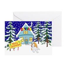 Santas Place St Bernard Greeting Card