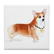 Welsh Pembroke Corgi Tile Coaster