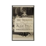 Free Alice Paul Rectangle Magnet