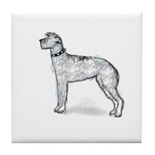 Scottish Deerhound Tile Coaster