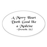 """A Merry Heart"" Oval Sticker (50 pk)"