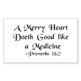 """A Merry Heart"" Rectangle Decal"