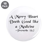 """A Merry Heart"" 3.5"" Button (10 pack)"