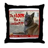 Malinois Mallomar Cookie Throw Pillow