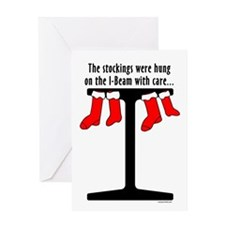 I Beam Stockings Greeting Card