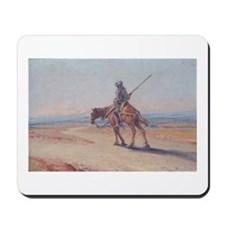 Don Quixote after fighting windmills mousepad