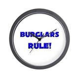 Burglars Rule! Wall Clock