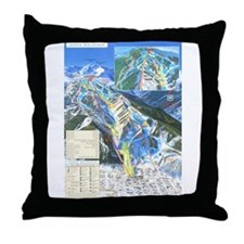 Cute Ski jumping Throw Pillow