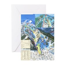 Unique Skiing fan Greeting Cards (Pk of 20)