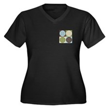 Sudoku Pop Art Women's Plus Size V-Neck Dark T-Shi