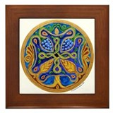 Armenian Tree of Life Cross Mandala Framed Tile