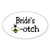 Bride's Beeotch Oval Decal