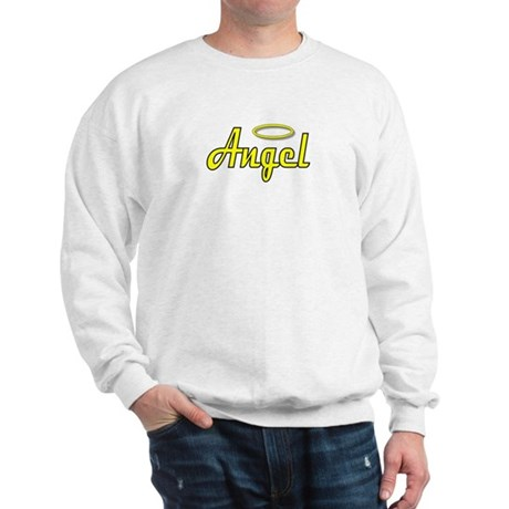 Soft Golden Angel Wings on back Sweatshirt