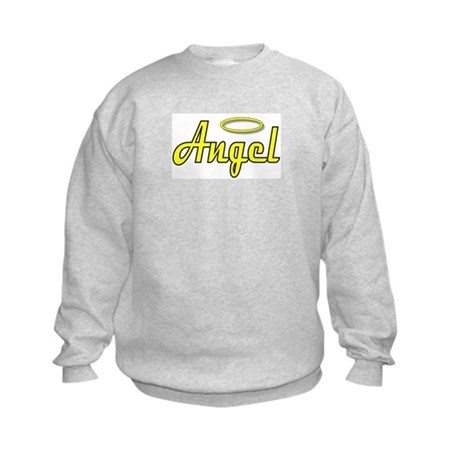 Soft Golden Angel Wings on back Kids Sweatshirt