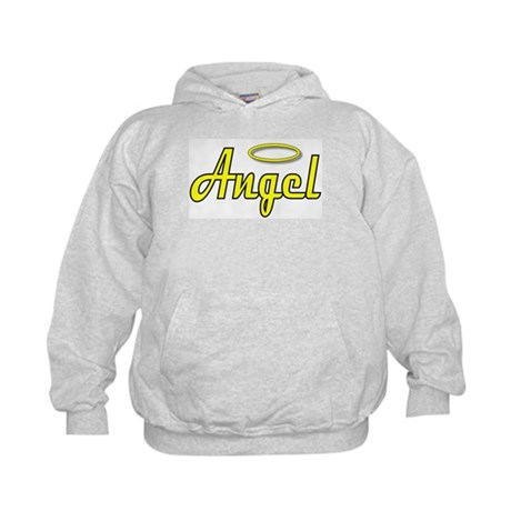 Soft Golden Angel Wings on back Kids Hoodie