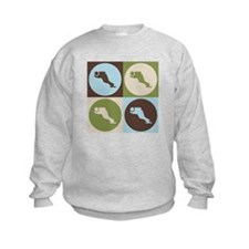 Speed Skating Pop Art Sweatshirt