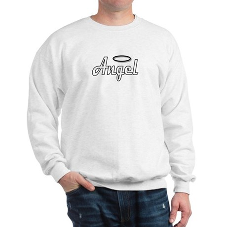 Goth Angel Wings on back Sweatshirt