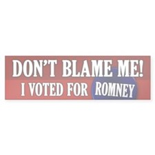 I voted for Romney Bumper Bumper Sticker