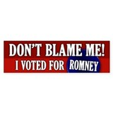 I voted for Romney Bumper Bumper Stickers