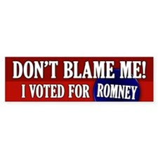I voted for Romney Bumper Sticker (50 pk)