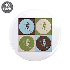 """Skiing Pop Art 3.5"""" Button (10 pack)"""