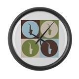 Saxophone Pop Art Large Wall Clock