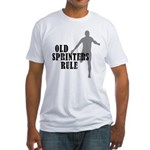 Old Sprinters Rule Fitted T-Shirt