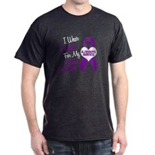 I Wear Purple For My Great Grandpa 18 (AD) T-Shirt