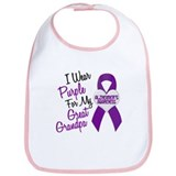 I Wear Purple For My Great Grandpa 18 (AD) Bib