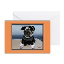 Dred Pirate Oliver Greeting Cards (Pk of 10)
