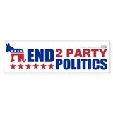 2 Party Politics Bumper Bumper Sticker