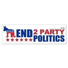 2 Party Politics Bumper Sticker (10 pk)