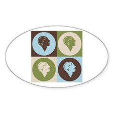 Psychology Pop Art Oval Decal