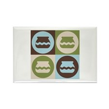 Pottery Pop Art Rectangle Magnet