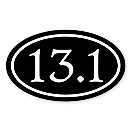 13.1 Half Marathon Oval Sticker