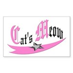 Cat's Meow Rectangle Sticker