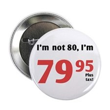 "Funny Tax 80th Birthday 2.25"" Button"