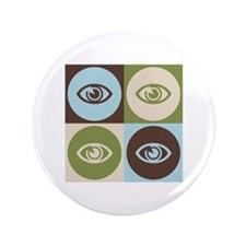 "Optometry Pop Art 3.5"" Button"