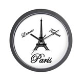 L'amour Toujours Paris Wall Clock