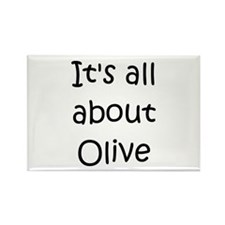 Cute Olive Rectangle Magnet (100 pack)