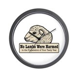 No Lambs Harmed Wall Clock