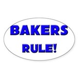 Bakers Rule! Oval Decal