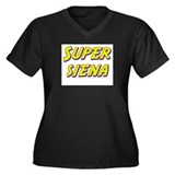 Super siena Women's Plus Size V-Neck Dark T-Shirt