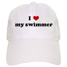 I Love my swimmer Baseball Cap