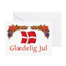Danish Glaedelig Jul 2 Greeting Cards (Pk of 10)