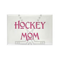 Hockey Mom Pink Rectangle Magnet