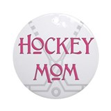 Hockey Mom Pink Ornament (Round)