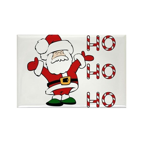 Ho Ho Ho Santa Rectangle Magnet (10 pack)